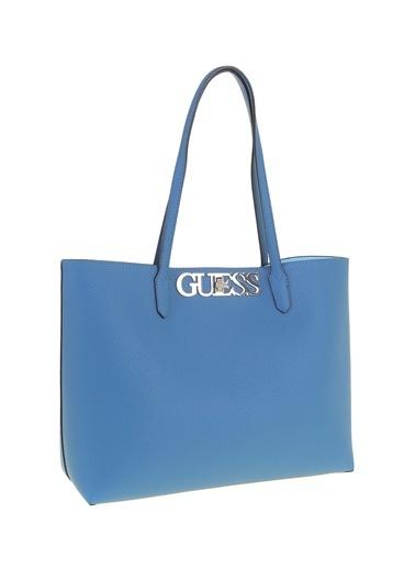 Guess Clutch / El Çantası Mavi
